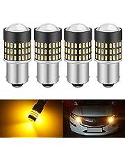 KATUR 1156 BA15S 7506 1073 1095 1141 LED-lampa 900 lumen 3014 78SMD lins LED-lampor för broms blinkers svans backup omvänd bromslampa, Xenon vit (förpackning med 2)