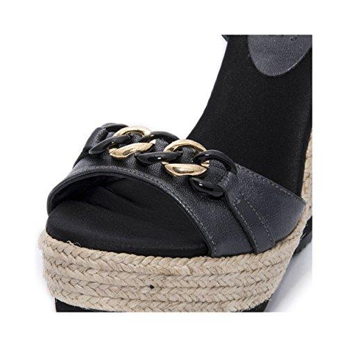 Sandalo Modello Zeppa Espadrillas Mtbali Dubai Con Nero Donna 8dwzqU7qx