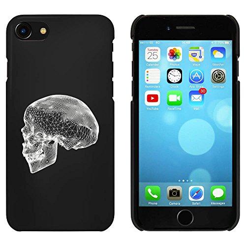 Noir 'Crâne en Fil Métallique' étui / housse pour iPhone 7 (MC00074771)
