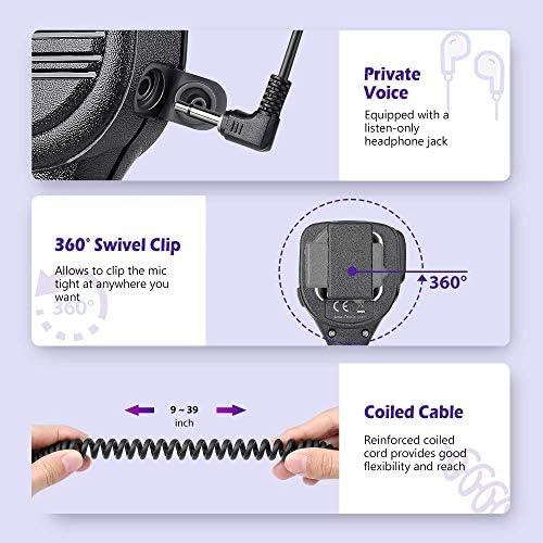 Zeadio ZP-AMC050 - Micrófono de Altavoz de Mano Impermeable para Motorola Walkie Talkie Radio XPR6100 XiR P8200 DP3400 DGP4150 APX1000 XPR6500 DP4400 DGP6150 APX7000 XPR7380 MTP830S, etc.: Amazon.es: Electrónica