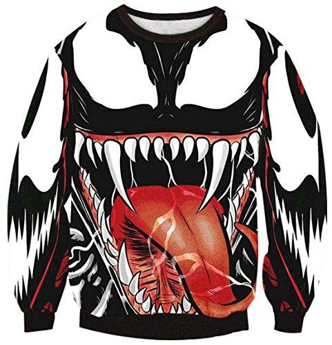 XTX Men's 3D Snake Print Longsleeve Pullover Sweater US L Aspic