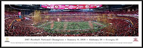 Bears Head Coach (Alabama - 2017 College Football National Champion - Blakeway Panoramas College Print with Standard Frame)