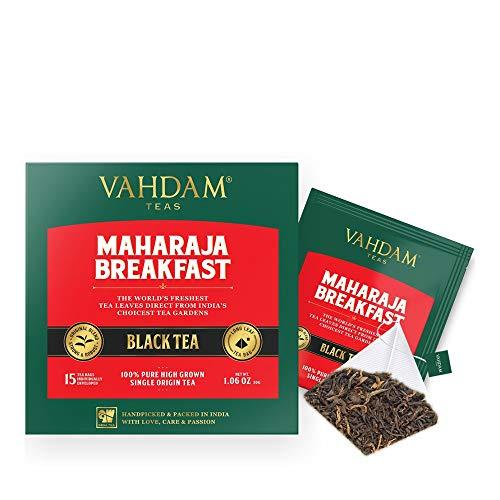 English Breakfast Tea (30 Black Tea Bags) | HIGH ENERGY & CAFFEINE - Healthy Coffee Replacement | Strong, Robust & Flavoury Black Tea Bags | Brew Hot, Iced, Kombucha Tea, Milk Tea | ANTIOXIDANTS RICH ()