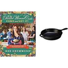 "The Pioneer Woman Cooks: Come and Get It! & Lodge 10.25"" Cast Iron Skillet Bundle"
