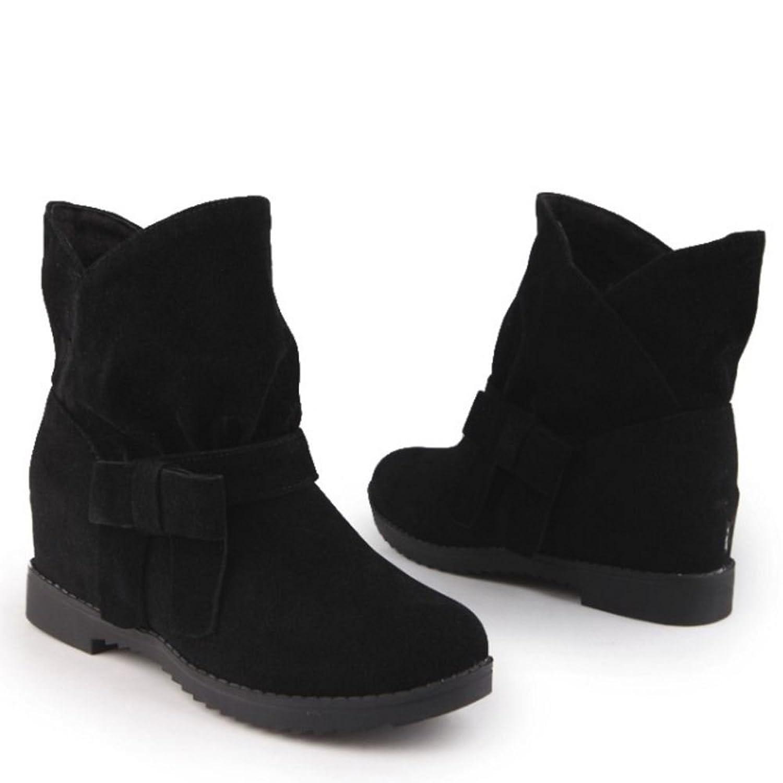 RAZAMAZA Women High Hidden Heel Casual Ankle High Boots: Amazon.co.uk: Shoes  & Bags