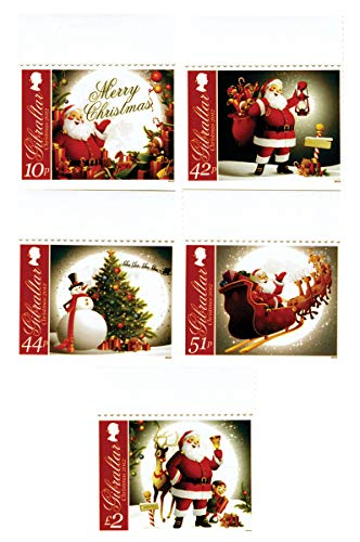 Christmas Images - Santa - Christmas Tree - Reindeer - Beautiful Collectors Stamps - Gibraltar