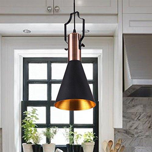 MSTAR Retro Industrial Lavaliere Light Black Metal Antique Pendant Ceiling Light Shade for Bar Cafe Dinning Room