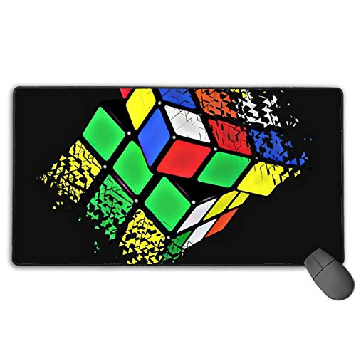 Large Gaming Mouse Pad/Mat, Rubiks Cube Mousepad with