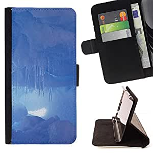 - Nature Clouds - - Monedero PU titular de la tarjeta de cr????dito de cuero cubierta de la caja de la bolsa FOR Apple Iphone 5 / 5S RetroCandy