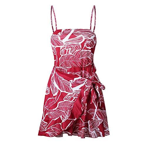 Con Donna Avvolgente Senza Puseky Caviglia Red Cinturino Vestito Sexy Da Spalline Longress Floreale Alla N0ZX8nPOkw