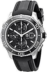 Tag Heuer Men's CAK2110.FT8019 Aquaracer500 Stainless Steel Watch with Black Rubber Strap