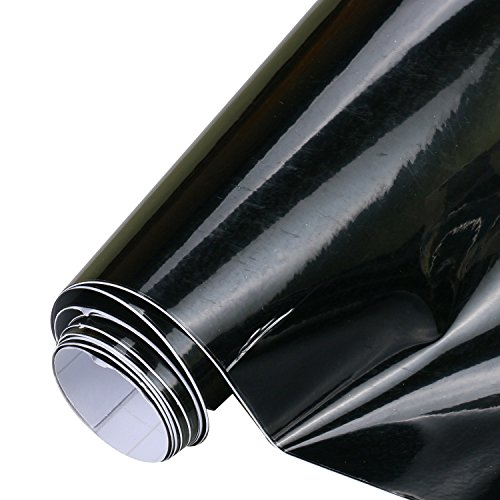 Mrcartool High Glossy Car Window Film,53''x20'' PVC Vinyl Sunroof Film DIY Waterproof Panoramic Air Release Car Decoration Film for All Car with Sunroof