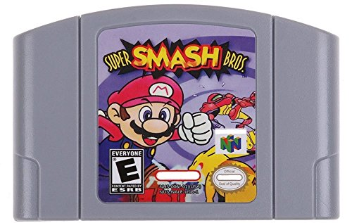 Super SmashBros. n64 - Video Game Cartridge Card - Compatible model NINTENDO - English - US Version - Super Smash Bros. n64 Bit 64