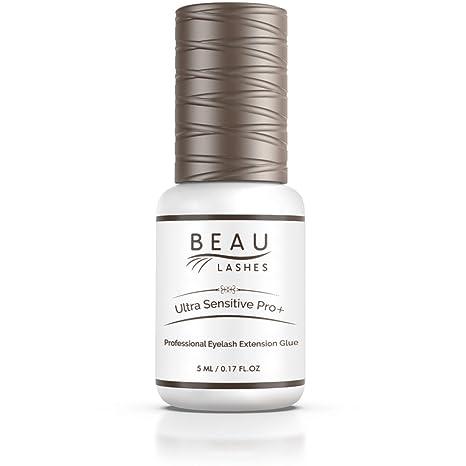 ed7dbc92ea9 Amazon.com : Sensitive Professional Eyelash Extension Glue 5ml - Low  Humidity Strong Black Bonding Adhesive for Long Lasting Semi Permanent  Individual Lash ...