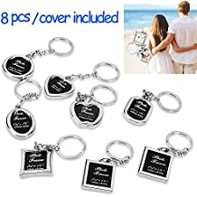 "Photo Frame Keychain Set - Protective Cover Included 8 Pieces Different Shapes Metal Personalized Picture Frame Key Holder, Cool Gift for Boyfriend Lover Dad Mum Grandpa by ""wonder X"""