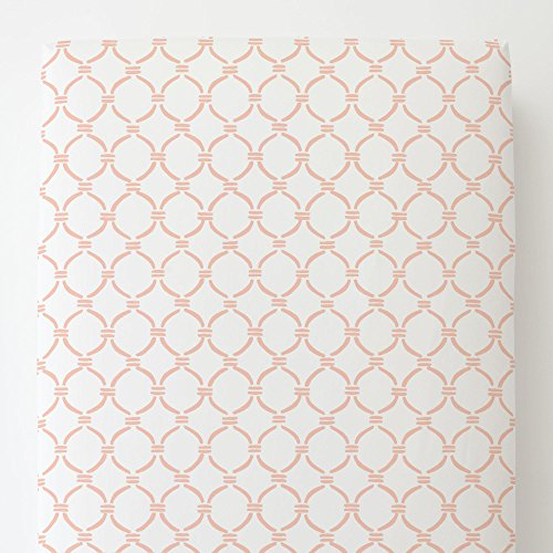Carousel Designs Peach Lattice Circles Toddler Bed Sheet (Peach Lattice)