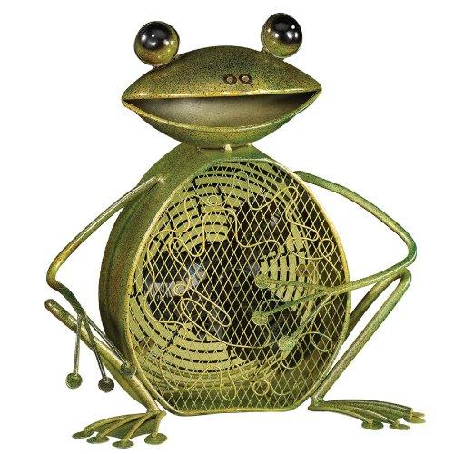Frog Decorative Fan - Deco Breeze DBF0361 Decorative Figurine 30-Watt Metal Fan, Frog by Deco Breeze