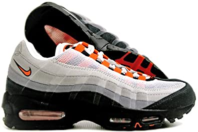 special section best shoes quality products Nike Mens Air Max 95 LTD White Team Orange Trainers Size UK ...