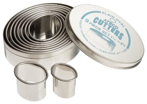 - Ateco 9pc Plain Oval Cutter Set