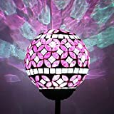"Beautiful Solar Rose-pink 3.5"" Mosaic Glass Ball"