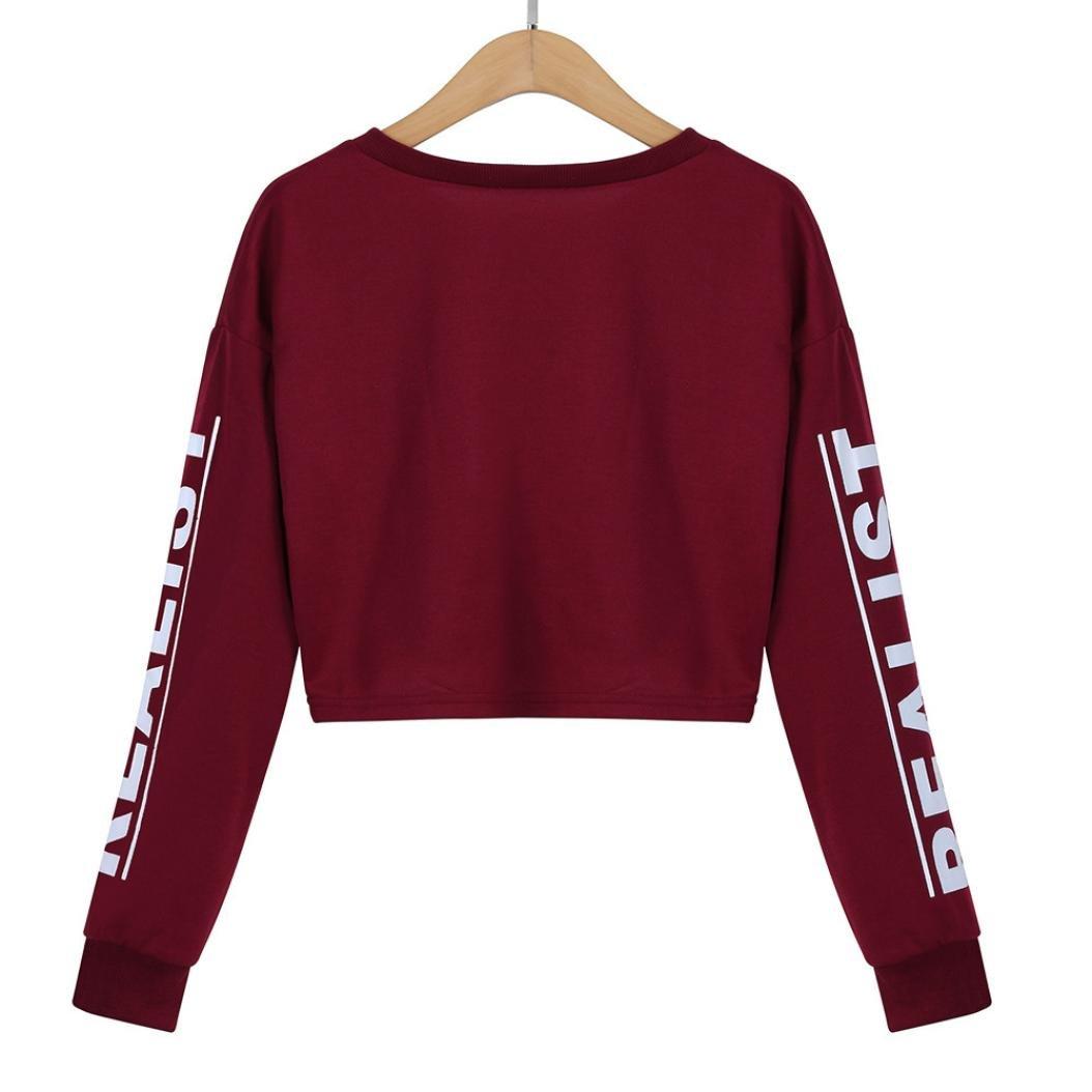 8afaca9285443 Women Teen Girls Long Sleeve Striped Crop Top Sweatshirt Pullover Cute Tops  T Shirt at Amazon Women s Clothing store