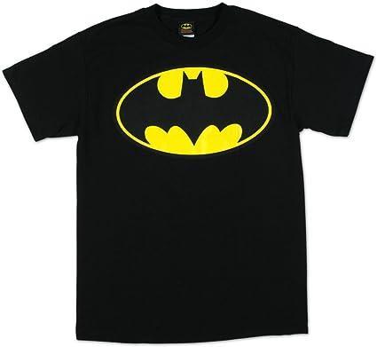 Camiseta de Batman para adulto, con logo amarillo, color negro: Amazon.es: Ropa y accesorios
