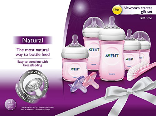 philips avent natural infant baby bottle starter set pink newborn gifts mom says it 39 s cool. Black Bedroom Furniture Sets. Home Design Ideas