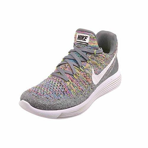 Glow Flyknit Low White US Nike Volt Blue 5 Cool Lunarepic 2 M Women's Wmns 9 Grey CwxPq1