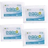 CLEAN LEADER Natural Clean Baby Dry Wipes ,Hospital wipes,Medical standards,Baby washcloth,Large Size,Sensitive Skin,Multi-purpose dry wipes,10X13.8Inches,4 pack of 50Count,200-Total