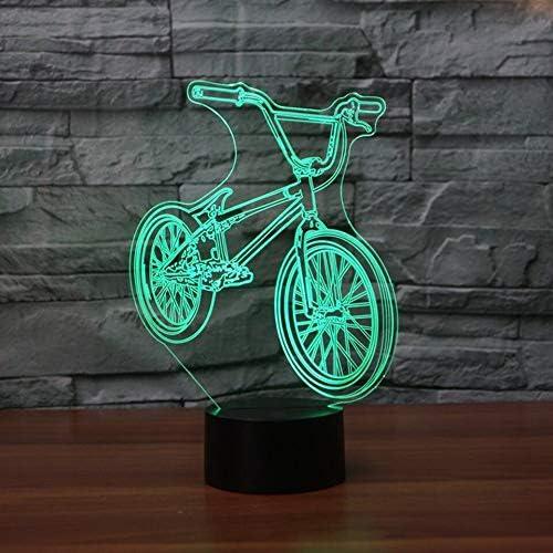3D LED BMX Luz de la noche 7 colores cambiar la forma de la ...