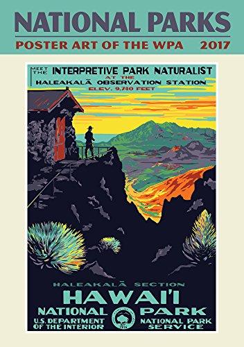 National Parks Poster Art Oversize Wall Calendar 2017