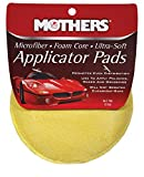 wax applicator pad - Mothers 156501 Yellow Microfiber Ultra-Soft Applicator Pad (Two 5