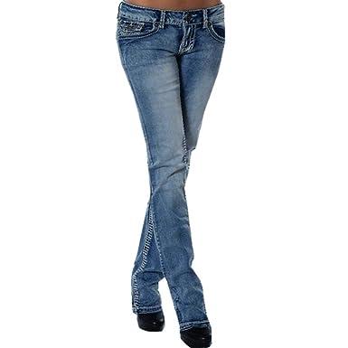 Pantalones Vaqueros Pantalones De Cintura Media Bordado De ...