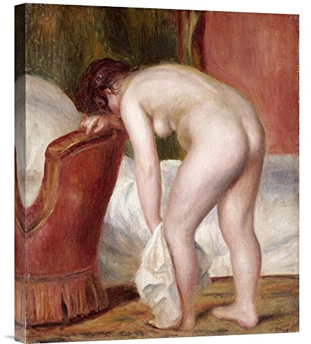 "Global Gallery GCS-267113-22-142 ""Pierre Auguste Renoir Female Nude Drying Herself"" Gallery Wrap Giclee on Canvas Wall Art Print"