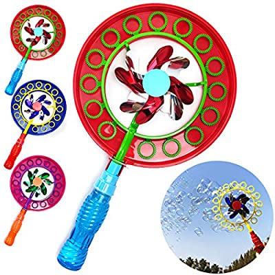 B bangcool Kids Bubble Wand Set Creative Windmill Design Bubble Maker Bubble Toy for Party: Toys & Games