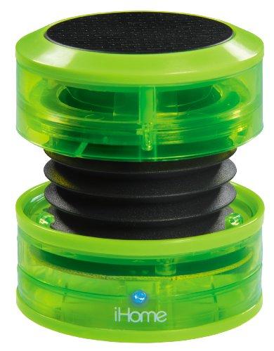 Mini Speaker Green - iHome IM60QN Rechargeable Mini Speaker - Green