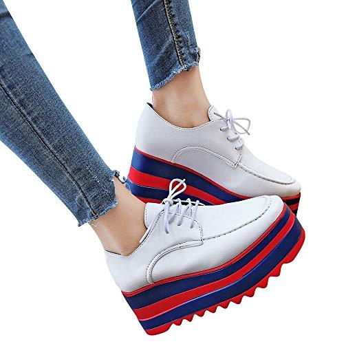 Shoes Lace Colors Increase Up Single Sole Casual WomenMixed Shoes High Students vAZ6nanwxB