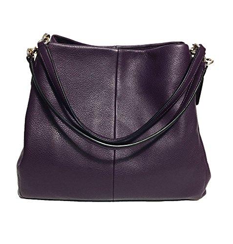 Coach Phoebe Pebbled Leather Shoulder Bag