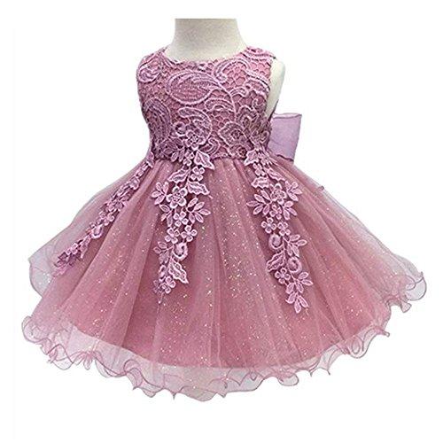 - LZH Baby Girls Birthday Christening Dress Baptism Wedding Party Flower Dress with Bowknot for Newborn Infant