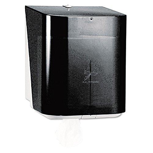 Kimberly-Clark Professional 09335 In-Sight Sr. Center-Pull Dispenser, 10 13/20w x 10d x 12 1/2h, Smoke/Gray