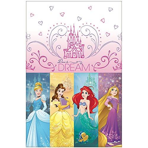 Disney Princess Sparkle Plastic Table Cover Tableware Decoration (1 Piece), Pink, 54