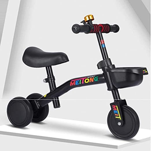 FFAJ Bicicleta para niños Carro de Equilibrio de Tres Ruedas para ...