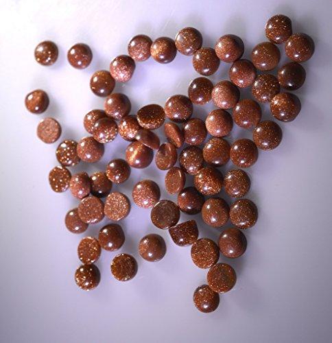 pierre de soleil pierres précieuses en vrac 1 pièces 5 x 5 mm rond brun cabochon pierres précieuses