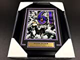 JUSTIN TUCKER 61 YARD RECORD AUTOGRAPHED 8X10 PHOTO BALTIMORE RAVENS FRAMED COA