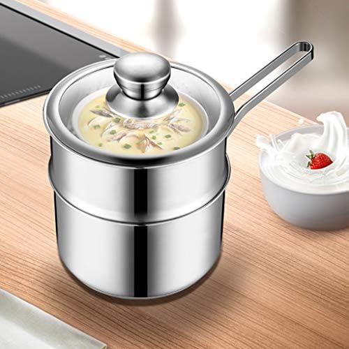 YWSZJ Marmite à Soupe en Acier Inoxydable Marmite épaissie Ménage Petit Marmite Porridge Nouilles instantanées Pot à gaz Cuisinière à Induction Lait Pot (Size : 18CM)