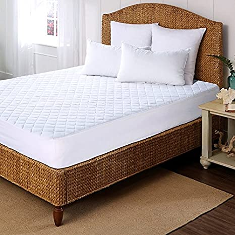 Rohi QUILTED MICROFIBRE WATERPROOROHI QUILTED MICROFIBRE WATERPROOF MATTRESS PROTECTOS: NON-NOISY (CRINKLE FREE). 100% MICROFIBRE PILE TOP (Kingsize Bed Waterproof Mattress Protector) INTELO