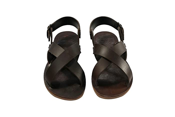 3cb6a532f6f29b Image Unavailable. Image not available for. Color  Brown Pacific Leather  Sandals for Women   Men - Handmade ...