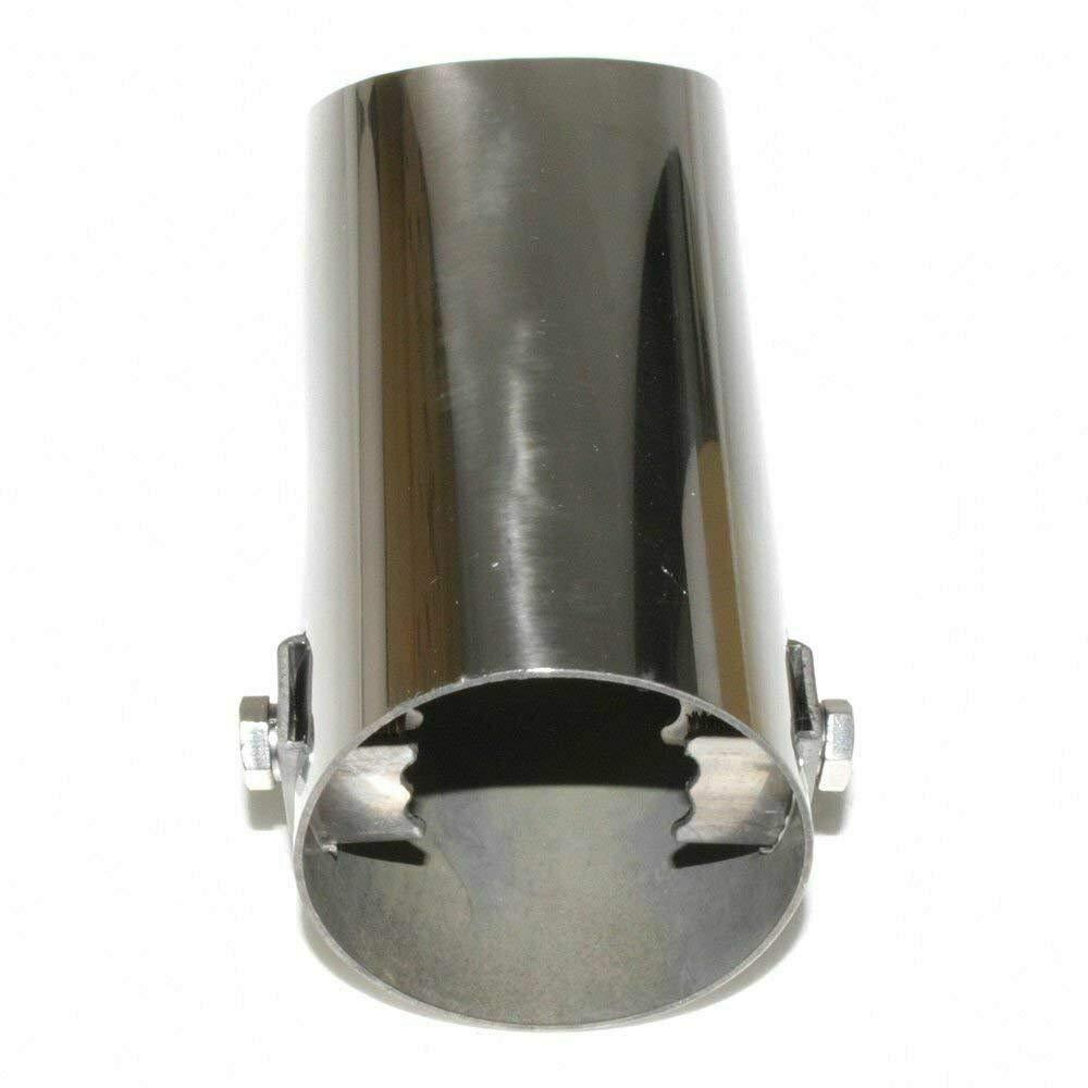de acero inoxidable hasta 52 mm cromado A B C G H J CC 3 4 5 6 7 Autohobby 0024 universal Embellecedor de tubo de escape
