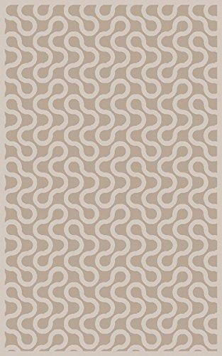 Surya Aimee Wilder NTV7006-811 Hand Woven Geometric Area Rug, 8-Feet by 11-Feet, Gray/Ivory