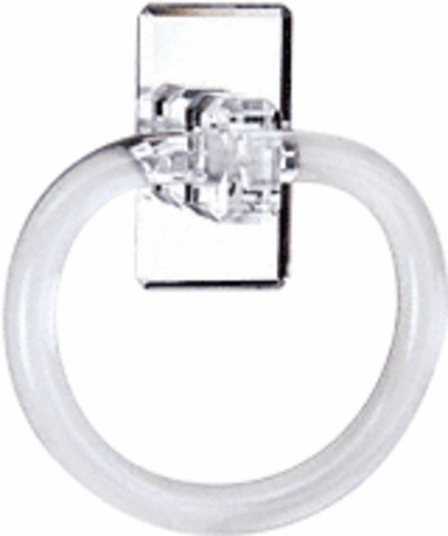 CRL 13cm Acrylic Mirrored Towel Ring B00QL4LONG